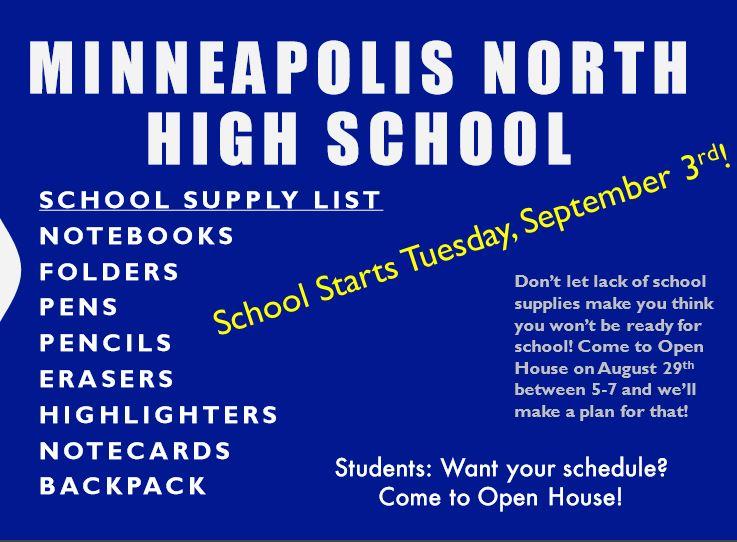 North School Supply List