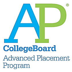 large AP logo with official copyright