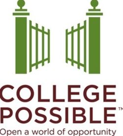 College Possible Logo with gate that is opening