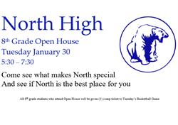 information about the open house also listed in the story