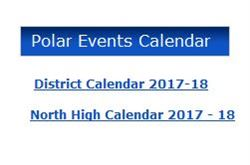 Screen shot of web page sidebar that includes polar events calendar