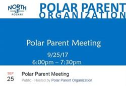 Polar Parent Orgnization written with blue letters on white background