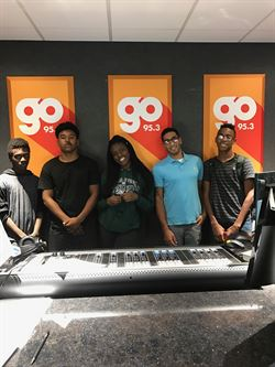 North students visit Go 95.3