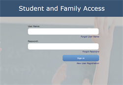 a picture of the login page for student portal