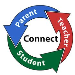 three arrows in a circle connecting parents, students, and teachers