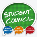 Green blurb that says student council underneath it says have your say, be heard, make a difference